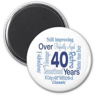 In 40 Jahren 40. Geburtstags- Runder Magnet 5,1 Cm