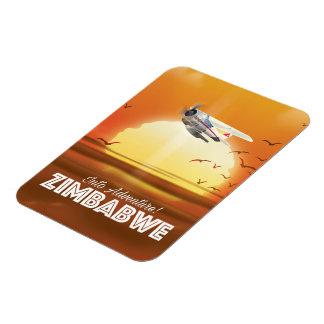 In Abenteuer! Simbabwe-Reiseplakat Magnet