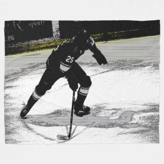 In Bewegung - Hockey-Spieler Fleecedecke