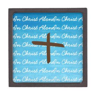 In Christus allein blau, Weiß und Schachtel