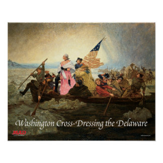 In Cross-Dressing kleidendes Washington das Poster