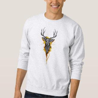 In das wilde: handgemachte, digital redigierte sweatshirt