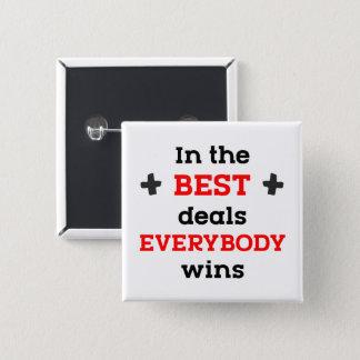 In den besten Abkommen gewinnt jeder Quadratischer Button 5,1 Cm