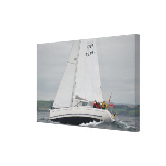 In den englischen Kanal stark segeln Leinwanddruck