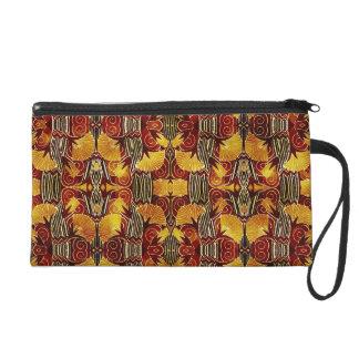 In den Flammen - Kunst-Deko-Muster Wristlet Handtasche