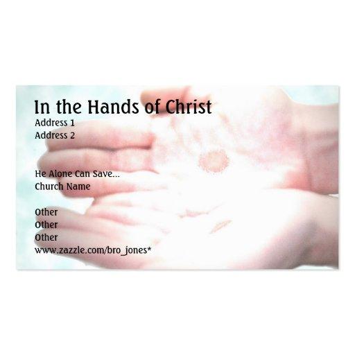 In den Händen von Christus Visitenkarte