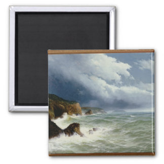 In den hohen Seen versenden, 1882 (Öl auf Quadratischer Magnet