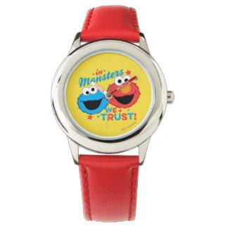 In den Monstern vertrauen wir! Armbanduhr