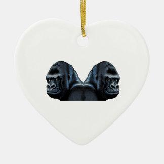 In den Nebel Keramik Herz-Ornament