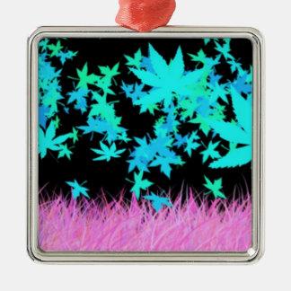 In den Träumen Quadratisches Silberfarbenes Ornament