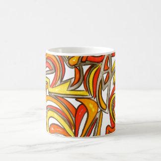 In der Bush-Hand gemalte abstrakte Kunst Kaffeetasse
