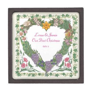 In der Garten ~ Liebewreath-Miniatur Giftbox Schmuckkiste