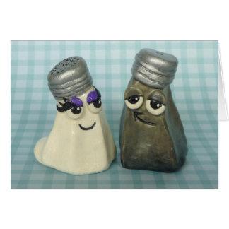 In der Liebe-Salz-und Pfeffer-Schüttel-Apparatgruß Grußkarten
