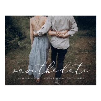In der Liebe-Save the Date Postkarte