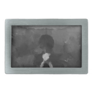 In der Regen-dunklen Kunst-Malerei Rechteckige Gürtelschnalle