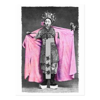 In der rosa Postkarte