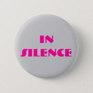 In der Ruhe-- Grau/Rosa Runder Button 5,7 Cm