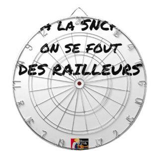 In der SNCF MAN ES FOUT der SPÖTTER - Wortspiele Dartscheibe