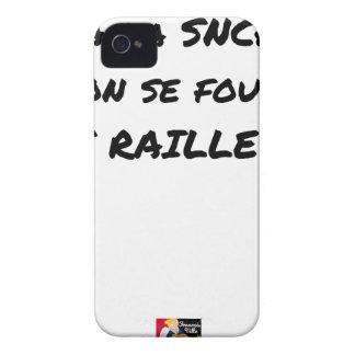 In der SNCF MAN ES FOUT der SPÖTTER - Wortspiele iPhone 4 Case-Mate Hülle