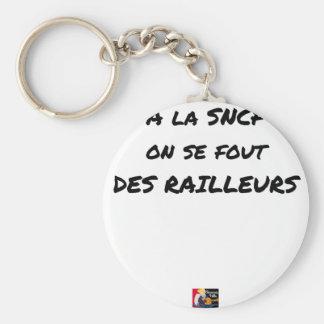 In der SNCF MAN ES FOUT der SPÖTTER - Wortspiele Schlüsselanhänger