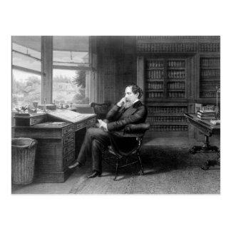 In der Studie von Charles Dickens Postkarte