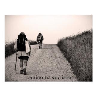 In der Suche Camino De Santiago Postkarte