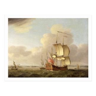 In der Themse-Mündung versenden, c.1761-66 (Öl an Postkarte