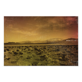In der Wüste Fotodruck