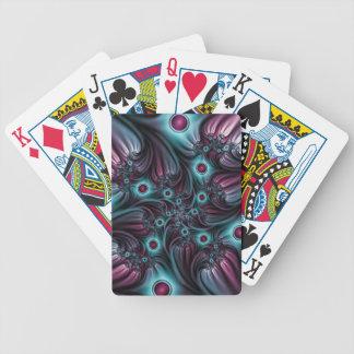 In die Tiefen-blaue rosa abstrakte Fraktal-Kunst Bicycle Spielkarten