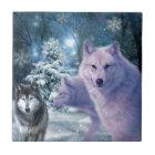 In die wilde Wolf-Kunst Fliese