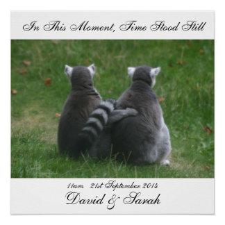 In diesem Moment stand Zeit noch - Lemur-Liebe Poster