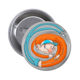 In einem Drehbeschleunigungs-Abzeichen Runder Button 5,7 Cm