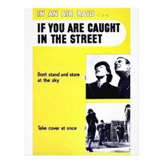 In einem Luftangriff wenn Sie in der Straße gefang Personalisierte Flyer
