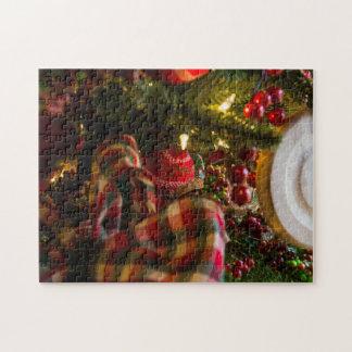 In einen Weihnachtsbaum Puzzle