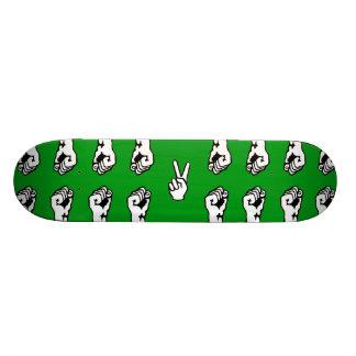 In einer Menge Individuelle Skateboards