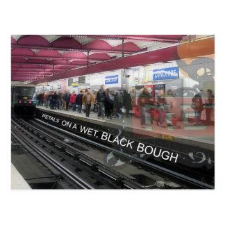 """""""In einer Station der Metros"""" Postkarte des"""