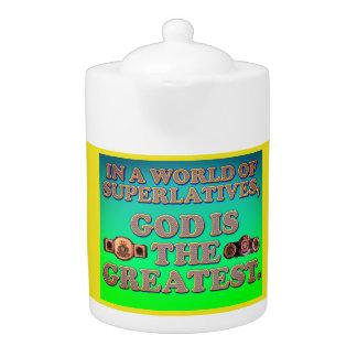 In einer Welt von Superlativen, ist Gott das
