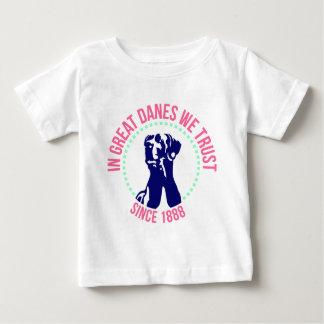In Great Danes we Trust Baby T-shirt