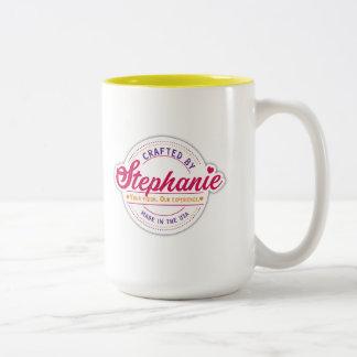 In Handarbeit gemacht durch Stephanie Zwei-Ton Zweifarbige Tasse