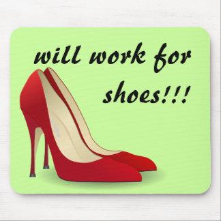 In hohem Grade motiviert: Arbeitet für Schuhe Mauspad