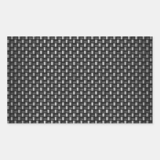 In hohem Grade realistische Kohlenstoff-Faser gema Rechtecksticker