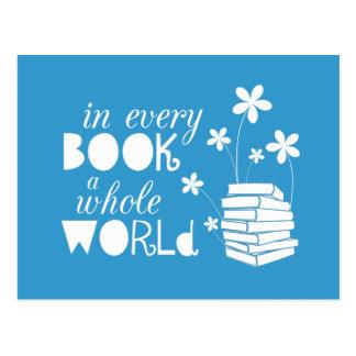 In jedem Buch eine ganze Welt Postkarte