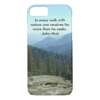 In jedem Weg mit Natur… - John Muir iPhone 8/7 Hülle