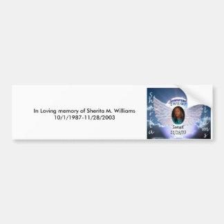 In liebevollem Gedächtnis von Sherita M. Autoaufkleber