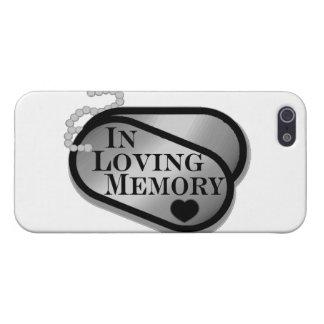 In liebevollen Gedächtnis-Erkennungsmarken iPhone 5 Case