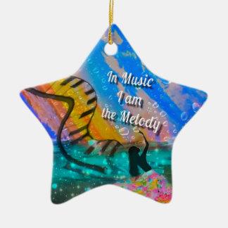 In meinem Leben genieße ich alles Keramik Stern-Ornament