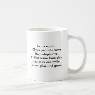 In meiner Welt: Trüffeln kommen von den Schweinen… Kaffeetasse