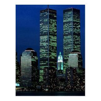 In Memoriam zum Gedenken an Twin Tower WTC NYC Postkarte