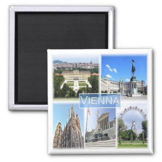 IN * Österreich - Wien Quadratischer Magnet