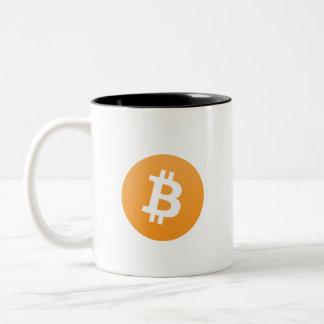 In Schlüssel vertrauen wir Bitcoin Tasse